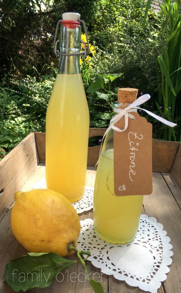 Frisches für heisse Tage: Zitronenlimonade aus Zitronensirup