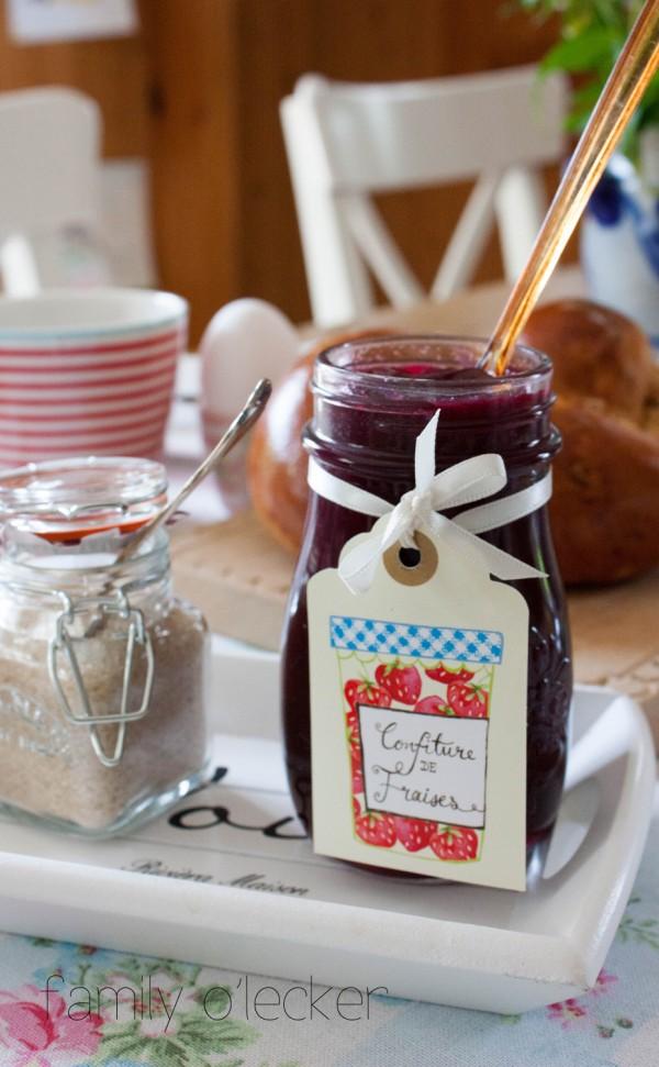 Erdbeer-Blaubeer Konfitüre mit Vanille