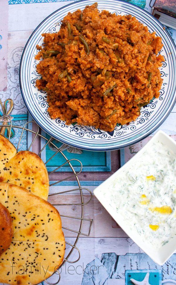Persischer Reis mit Grünen Bohnen – Lubia polow