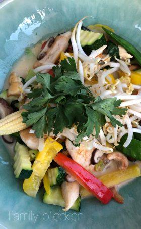 Wokgemüse mit Pouletstreifen